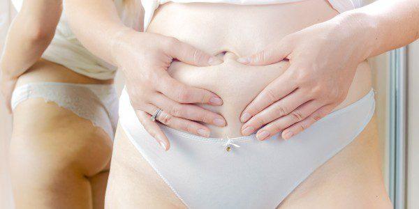 Fettsuging mage illustrasjon